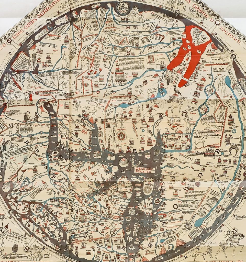 The Hereford Map, ca. 1300. Image courtesy of University Library Groningen.