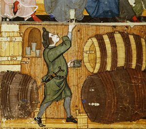 """A medieval cellarer--a man leading """"the active life."""" Creator:Monk of Hyères Cibo [CC0], via Wikimedia Commons"""