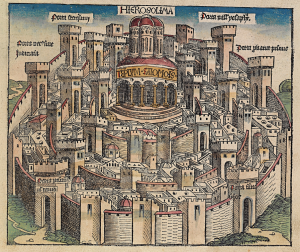 Schedel's Jerusalem in color